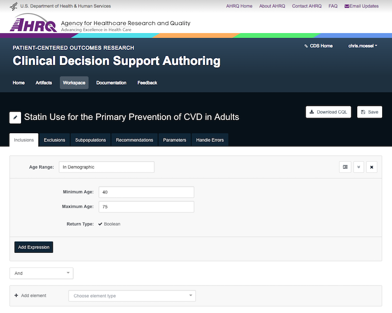 The CDS Authoring Tool